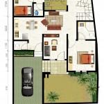 1st floor plan kencana jingga residence- type 110