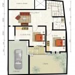 2nd floor plan kencana jingga residence - type 110